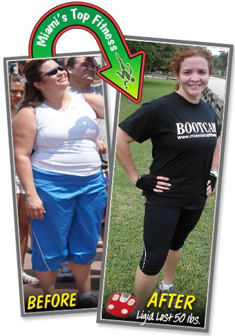 ligia before and after boot camp